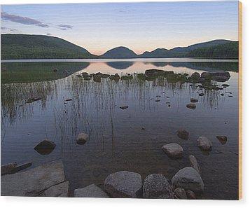 Eagle Lake Dusk Reflections Wood Print by Stephen  Vecchiotti