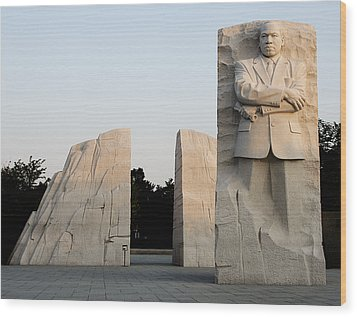 Early Morning At The Martin Luther King Jr Memorial - Washington Dc Wood Print by Brendan Reals