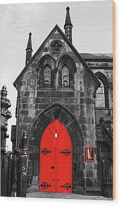 Edinburgh Door Wood Print by Martina Fagan