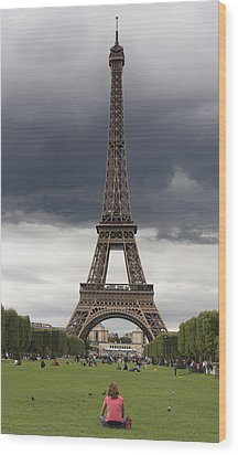 Eiffel Tower. Paris Wood Print by Bernard Jaubert