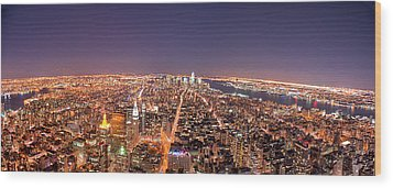 Empire State Building 86th Floor Observatory Wood Print by James DiBianco Jr
