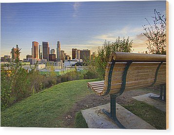 Empty Bench Wood Print by Kenny Hung Photography
