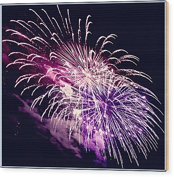 Exploding Stars Wood Print by DigiArt Diaries by Vicky B Fuller