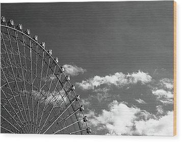 Ferris Wheel Wood Print by Kiyoshi Noguchi