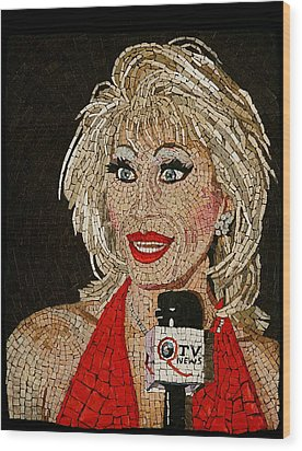 First Lady Donna Sachet Wood Print by Michael Kruzich