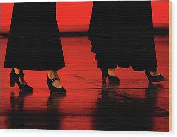 Wood Print featuring the photograph Flamenco 2 by Pedro Cardona