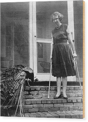 Flannery Oconnor 1925-1964, American Wood Print by Everett