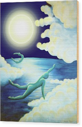 Flying Dream 2 Wood Print by Barbara Stirrup