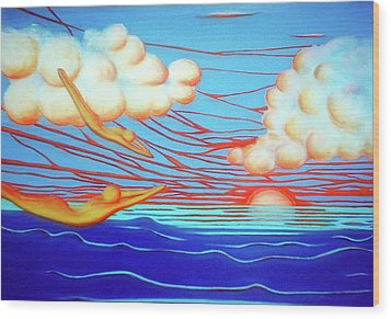 Flying Dream 3 Wood Print by Barbara Stirrup
