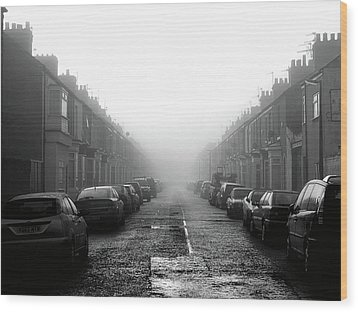 Foggy Terrace Wood Print by Paul Downing