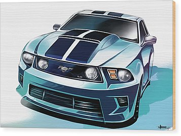 Ford Mustang 5.0 Wood Print by Uli Gonzalez