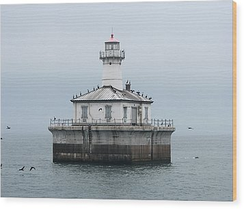 Fourteen Foot Shoal Light  Wood Print