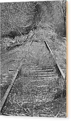 Wood Print featuring the photograph Ghost Rail by Juls Adams