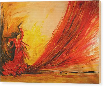 Gift Of Fire Wood Print