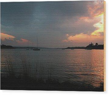 Glenmore Reservoir - Sunset 3 Wood Print by Stuart Turnbull