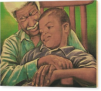 Grandpa And Me Wood Print by Curtis James