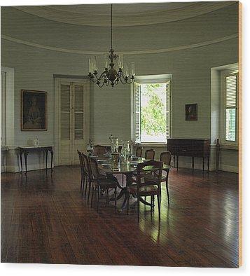 Greathouse Dinning Wood Print by Dennis Stein