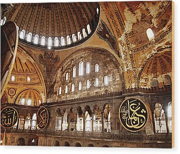 Hagia Sophia Gallery Wood Print by Guillaume Rodrigue
