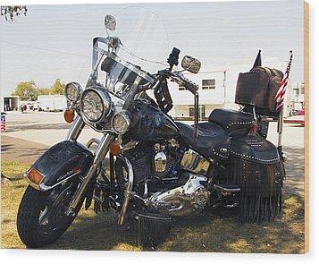 Harley Classic Wood Print by Elizabeth Chevalier