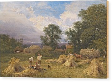 Harvest Time Wood Print by GV Cole