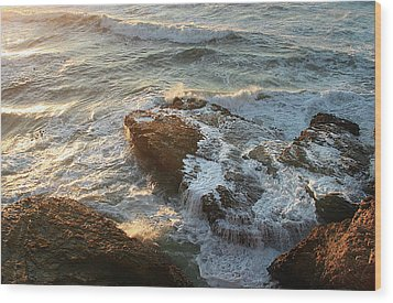 Heart Rock Wood Print