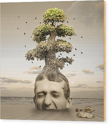 Heaven Or Hell Wood Print by Mostafa Moftah