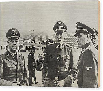 Heindrich Himmler Leftand Heydrich Wood Print by Everett
