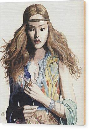 Hippie Chic Wood Print by Richard Schmidt