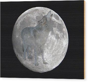 Howl At The Moon Wood Print