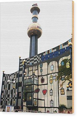 Hundertwasser Building Wood Print