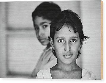 Indian Eyes Wood Print