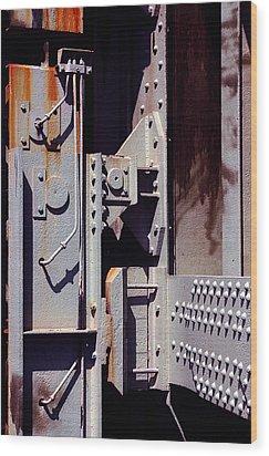 Industrial Background Wood Print by Carlos Caetano