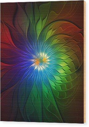Into Light Wood Print by Amanda Moore