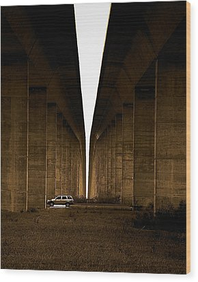 Into The Light Wood Print by Patrick Biestman