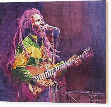 Jammin - Bob Marley Wood Print by David Lloyd Glover
