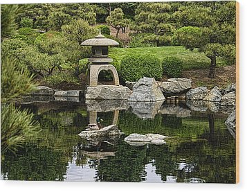 Wood Print featuring the photograph Japanese Garden by Catherine Fenner