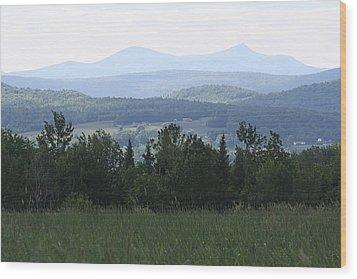 Jay Peak From Irasburg Wood Print