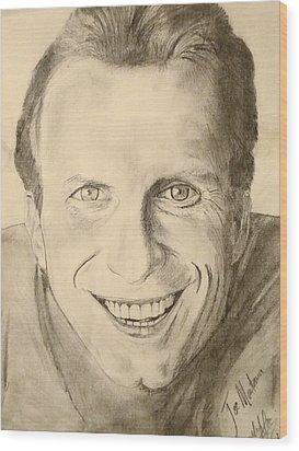Joe Montana Wood Print by Art by AK