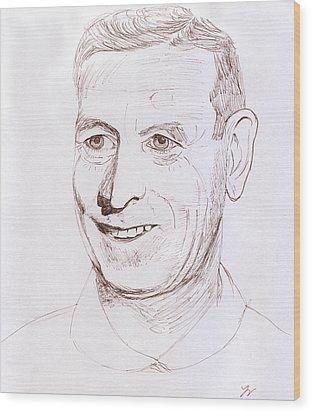 John Wooden Wood Print