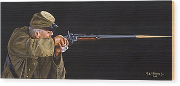 Johnny Reb Wood Print