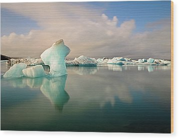 Jokulsarlon Glacier Lagoon Icebergs Wood Print by Stealing Beauty Photography