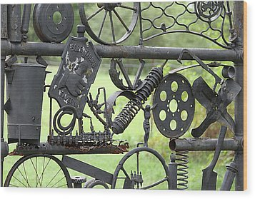 Junk Art Wood Print by Marilyn West