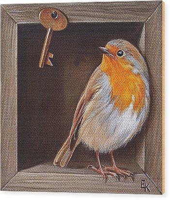 Key Guardian Wood Print by Elena Kolotusha