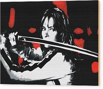 Kill Bill Wood Print by Luis Ludzska