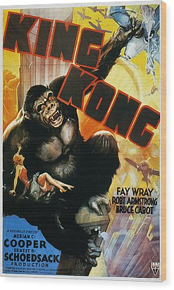 King Kong Poster, 1933 Wood Print by Granger