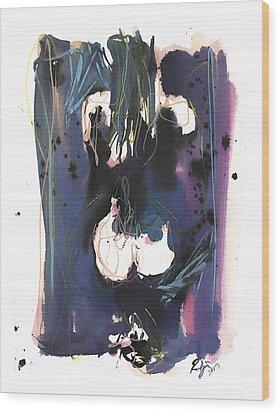 Kneeling Wood Print