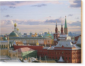 Kremlin, Moscow, Russia Wood Print by Lars Ruecker