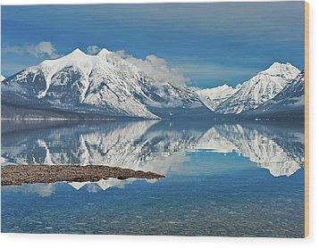 Lake Mcdonald Wood Print by Mark Shaiken - Photography