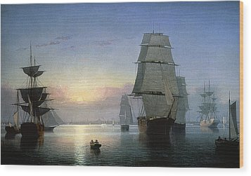 Lane: Boston Harbor Wood Print by Granger