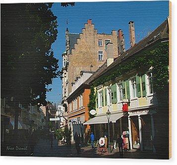 Lausanne Street Wood Print by Nick Diemel